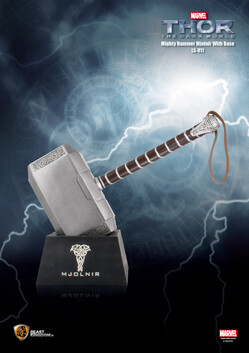 Thor the Dark World Mighty Hammer Mjolnir with Base