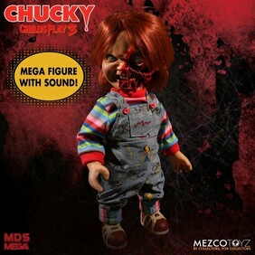 "Child's Play 3 - Chucky Pizza Face 15"" Talking Action Figure"