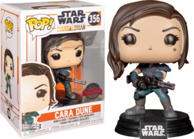 Star Wars: The Mandalorian - Cara Dune with Gun US Exclusive Pop! Vinyl