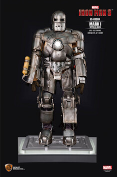 Iron Man 3 Iron Man Mark 1 Life Size Figure (with DX Base)