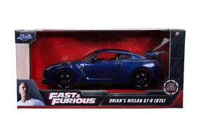 Fast & Furious - Brian's 2009 Nissan GT-R (R35) 1:24 Scale Hollywood Ride