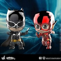 Justice League Movie - Batman & Flash Metallic Cosbaby Set