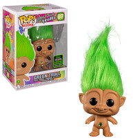 POP ECCC 2020 GOOD LUCK TROLLS GREEN TROLL DOLL LIMITED EDITION