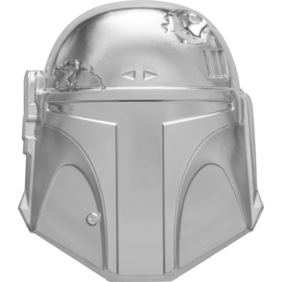 Star Wars™ Helmets: Boba Fett™ Helmet Ultra High Relief 2oz Silver Coin
