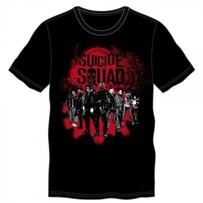 Suicide Squad Group Black Tee (2XL)